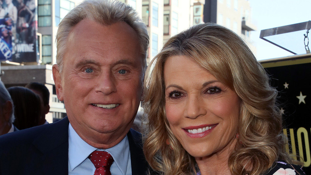 Pat Sajak and Vanna White pose together
