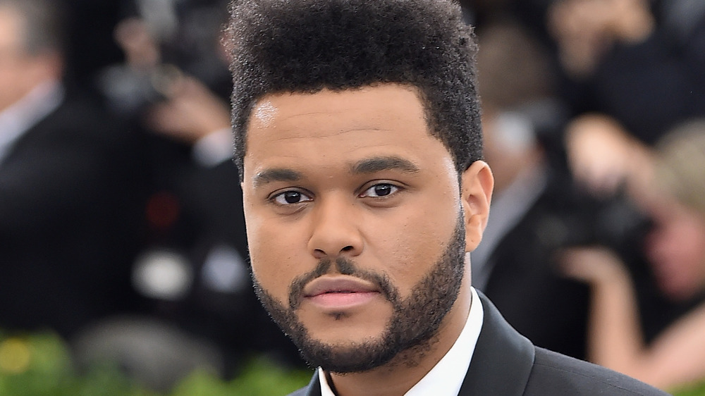 The Weeknd, posing