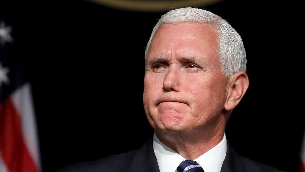 Mike Pence frowning