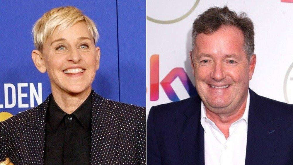 Ellen DeGeneres and Piers Morgan