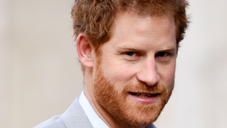 Prince Harry grinning