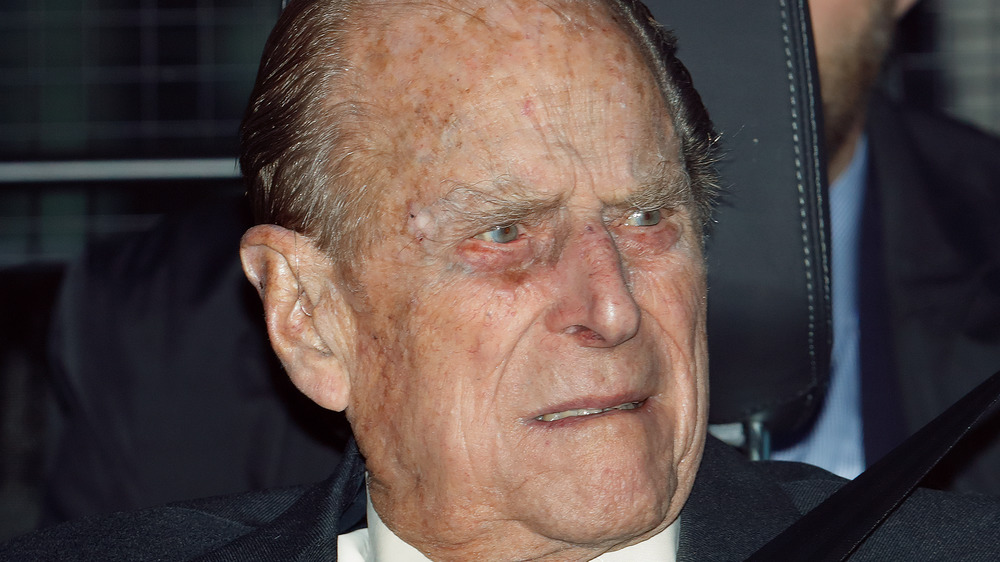 Prince Philip with a serious expression