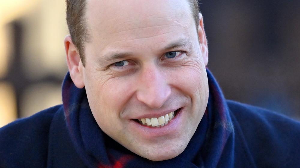 Prince William grimace
