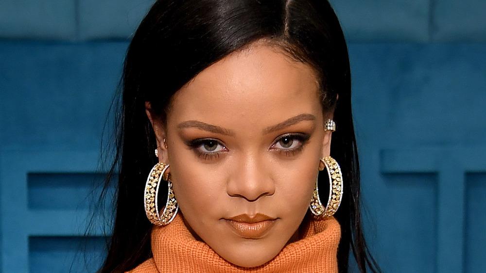 Rihanna staring at the camera