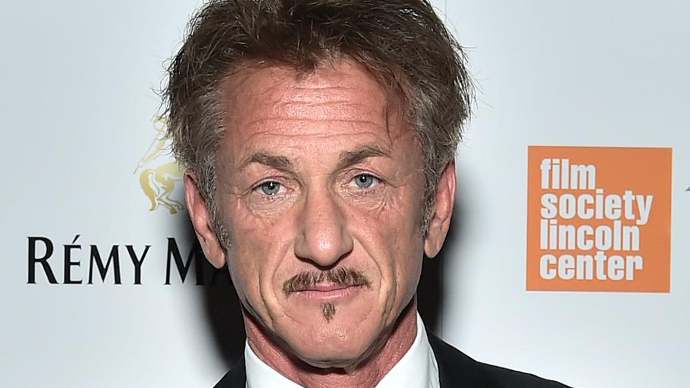 Sean Penn poses in suit