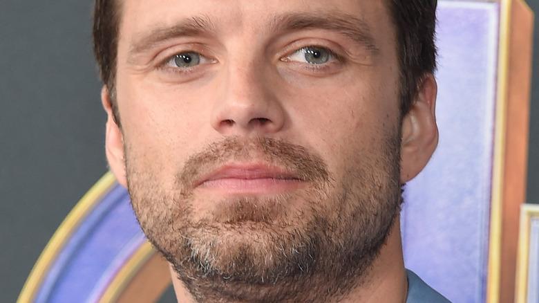 Sebastian Stan staring