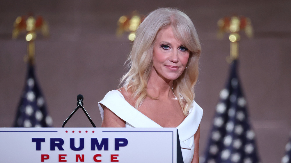 Kellyanne Conway speaking at the 2020 Republican National Conference