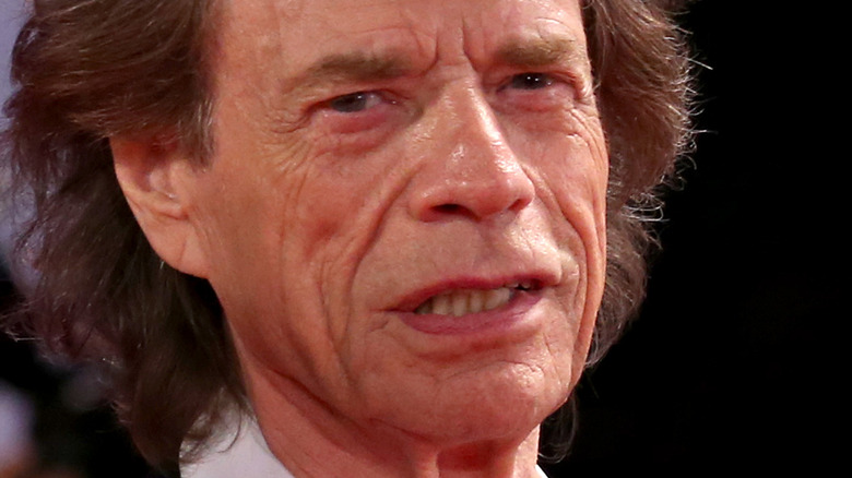 Mick Jagger with serious expression