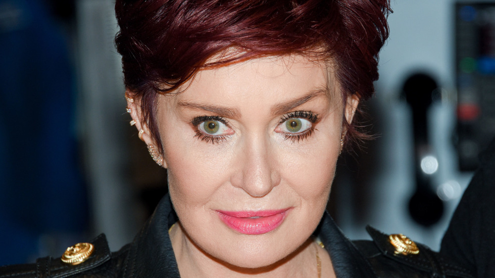 Sharon Osbourne looking serious at an event