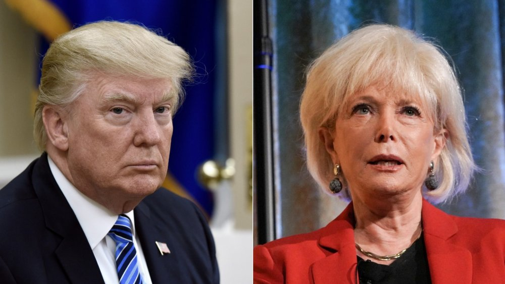 Donald Trump and Lesley Stahl