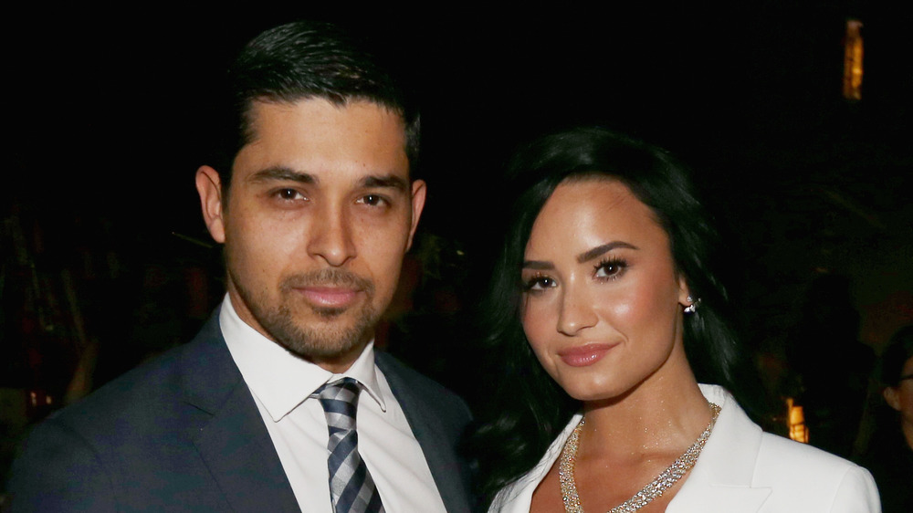 Demi Lovato and Wilmer Valderrama at an event