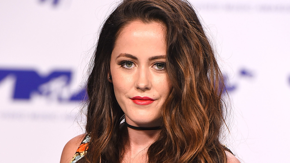 Jenelle Evans looking serious on the red carpet