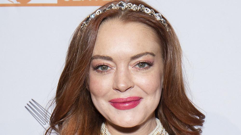 Lindsay Lohan at a New York Gala