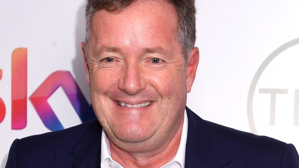 Piers Morgan smiling