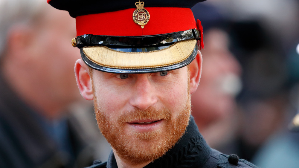 Prince Harry wearing his military uniform