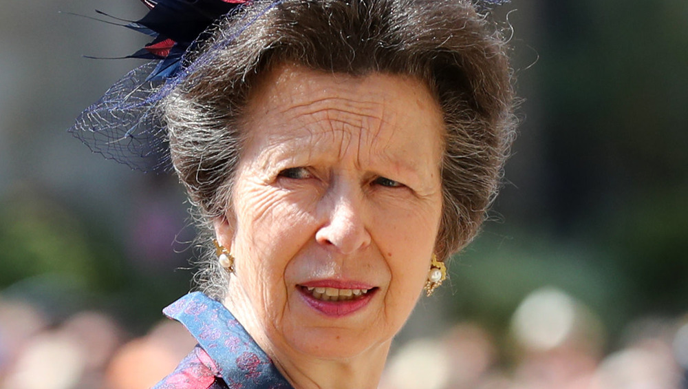Princess Anne arriving at St. George's Chapel