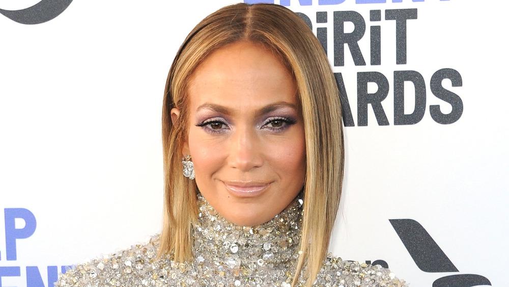 Jennifer Lopez smiling
