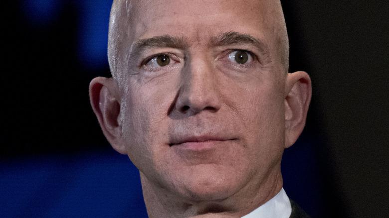 Jeff Bezos staring