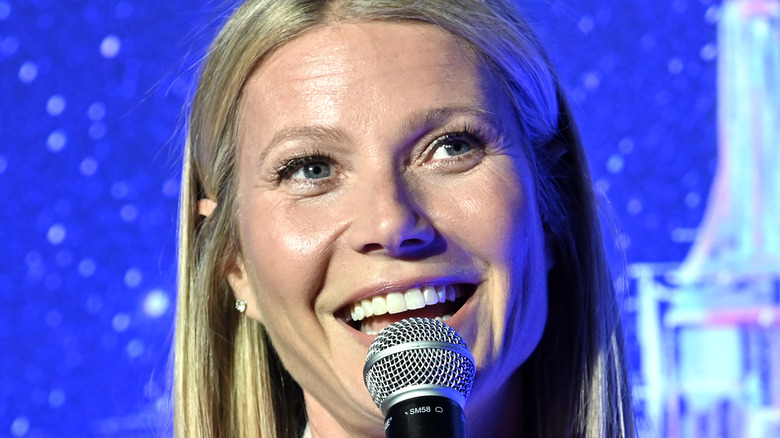 Gwyneth Paltrow speaking at an event
