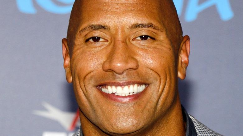 Dwayne The Rock Johnson smile movie premiere
