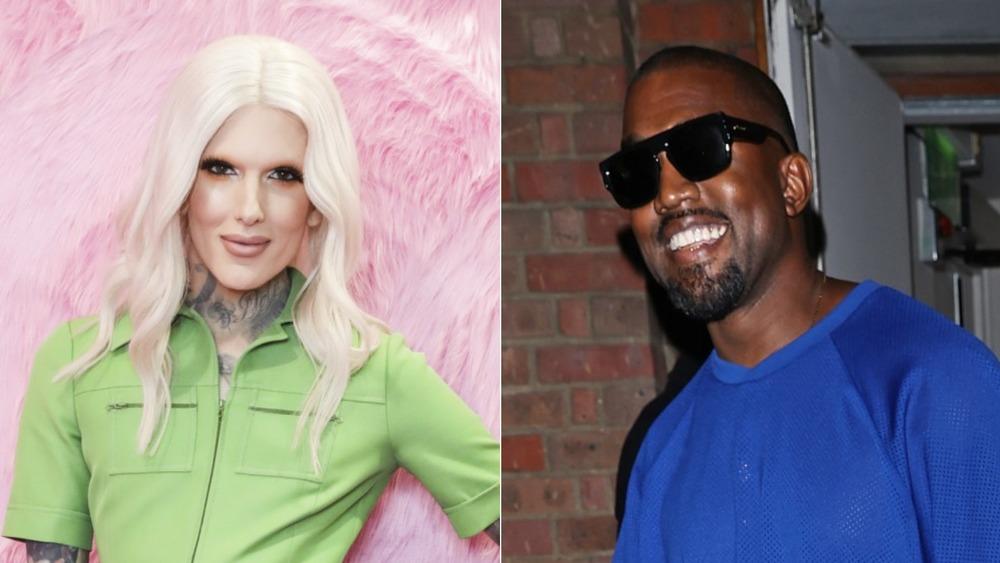 Jeffree Star and Kanye West splitscreen
