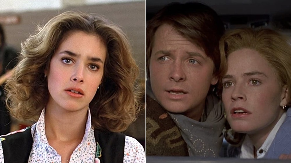 Claudia Wells, Michael J. Fox and Elisabeth Shue