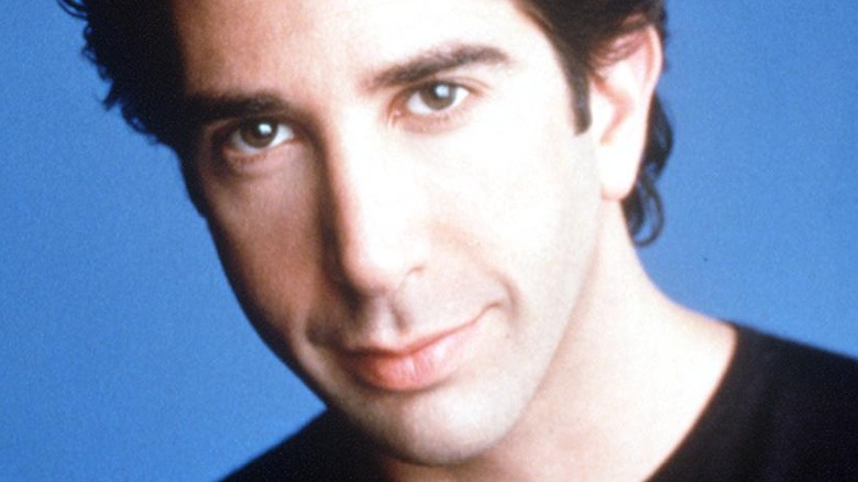 David Schwimmer posing for Friends promo image