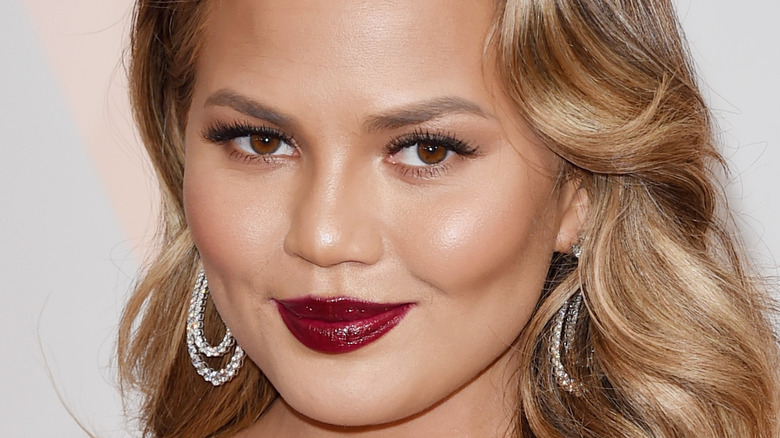 Chrissy Teigen attending the 87th Annual Academy Awards