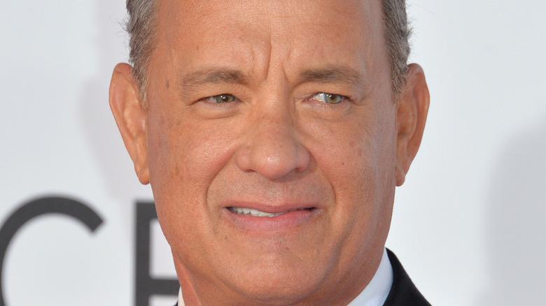 Tom Hanks side smile