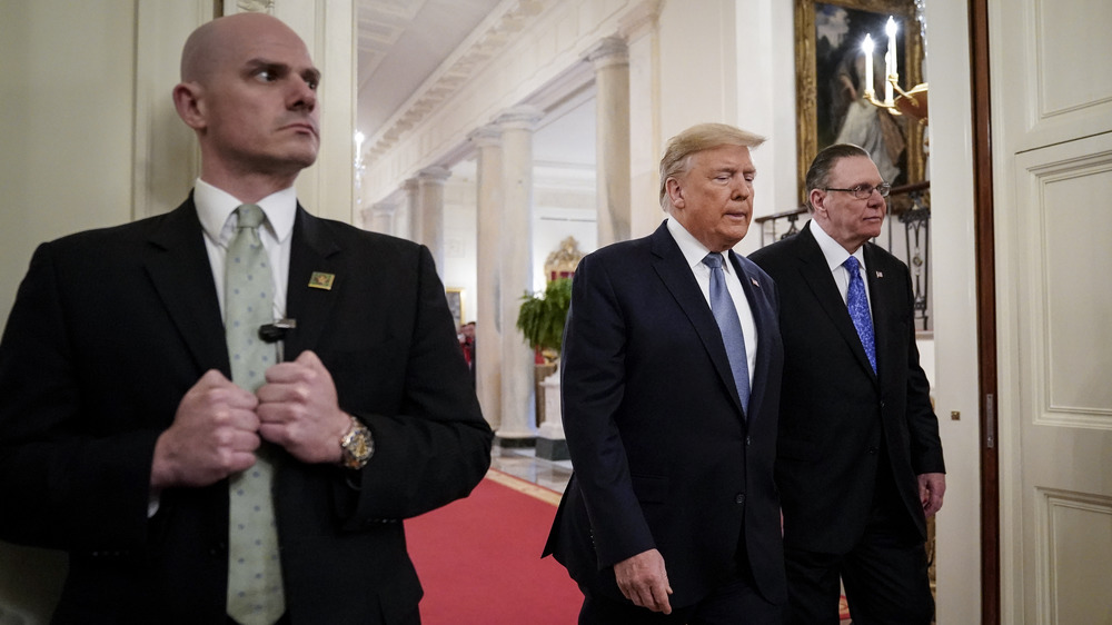 Donald Trump with Secret Service agent