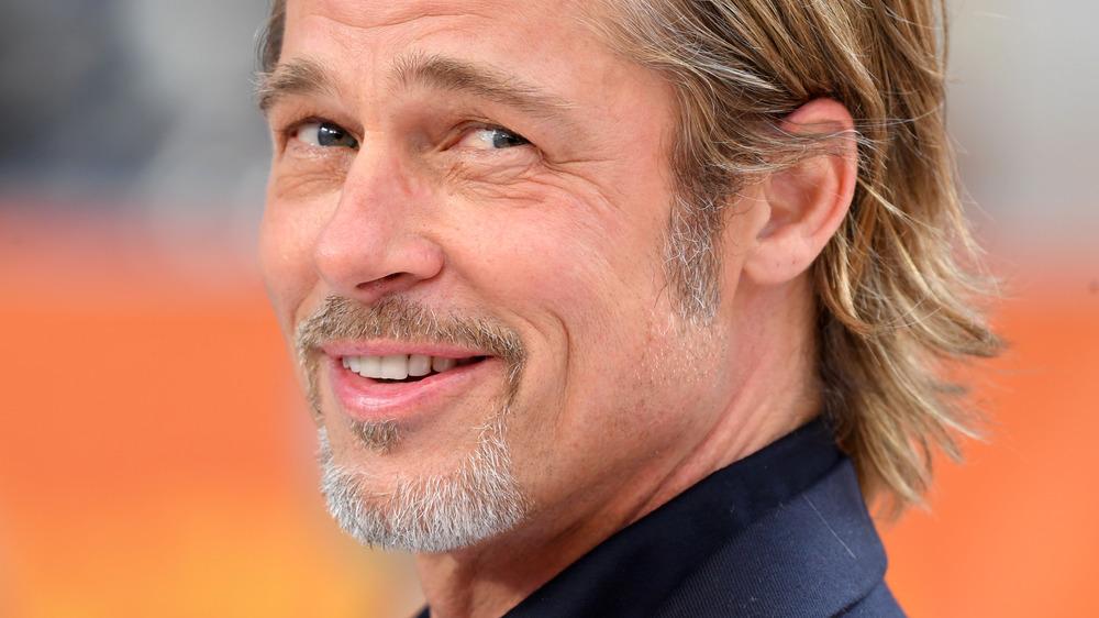 Brad Pitt smirking