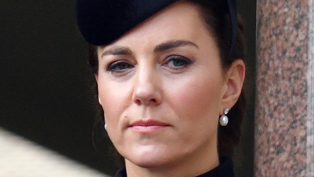 Kate Middleton looking serious