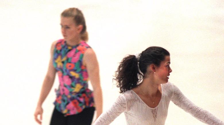Tonya Harding and Nancy Kerrigan figure skating