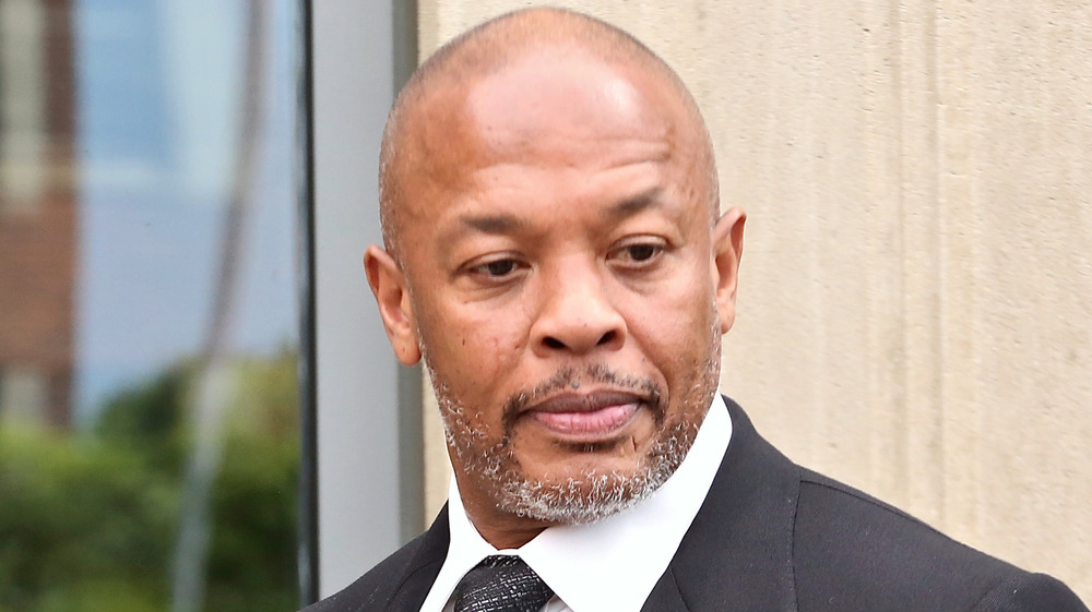 Dr. Dre looking down