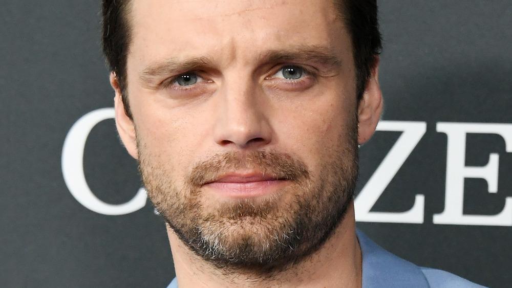 Sebastian Stan furrowing his brow