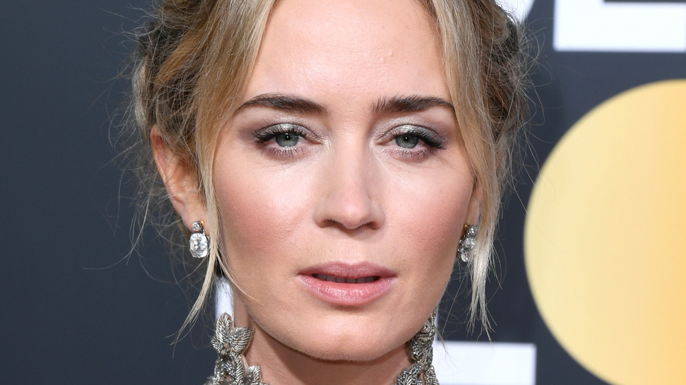 Emily Blunt posing at an event