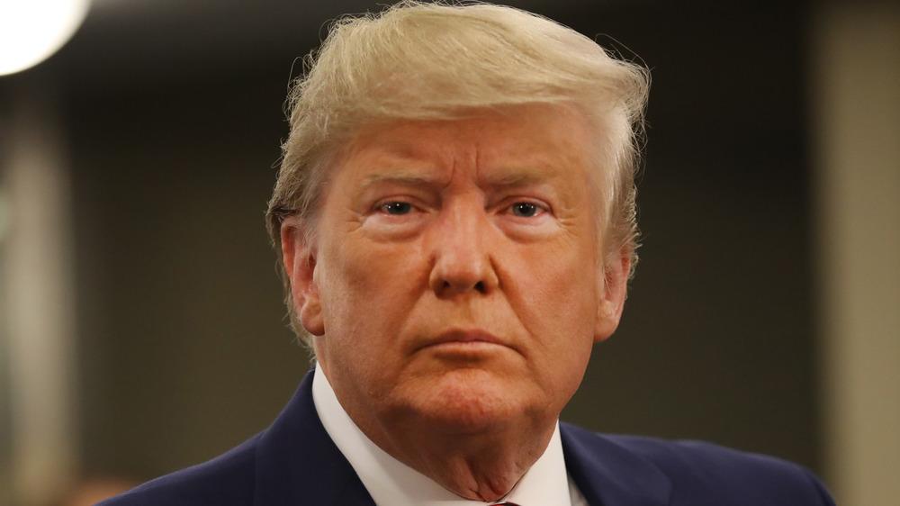 Donald Trump staring at the camera
