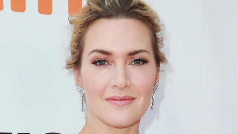 Kate Winslet wears diamond earrings