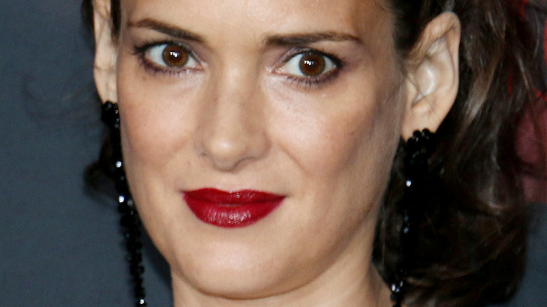 """Winona Ryder at the season 2 premiere of """"Stranger Things"""""""