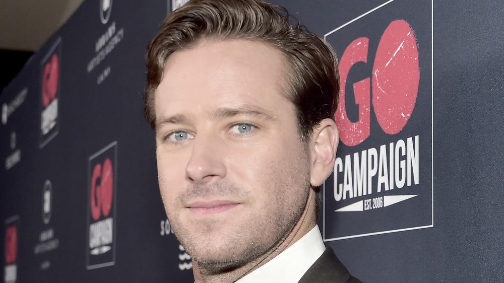 Armie Hammer with serious face