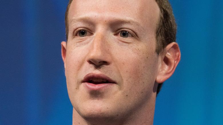 Mark Zuckerberg speaking onstage