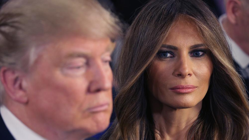 Melania Trump looking at Donald Trump