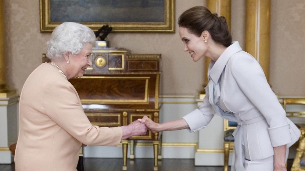 Queen Elizabeth and Angelina Jolie