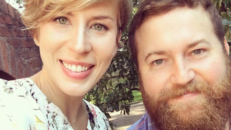 Erin and Ben Napier pose for a selfie