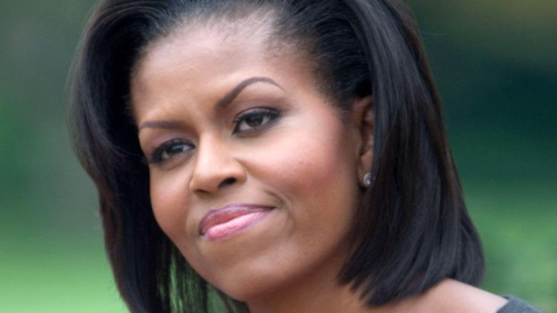 Michelle Obama in black