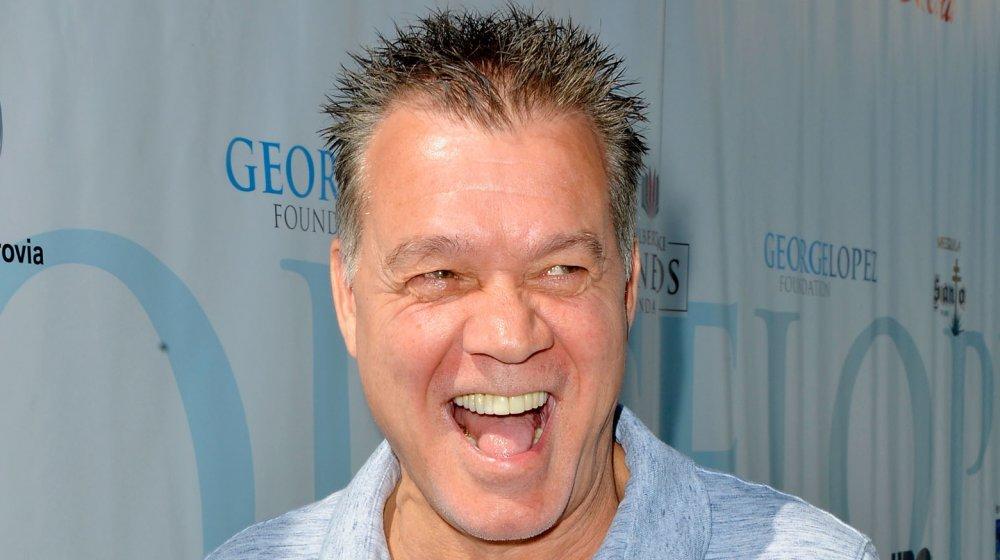 Eddie Van Halen goofing around on the red carpet in 2017