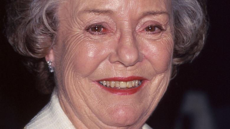 Pat Hitchcock smiling
