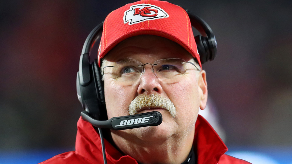 Coach Andy Reid at a Kansas City Chiefs Game in 2020