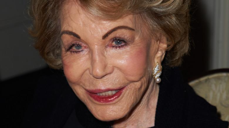 Anne Douglas smiling