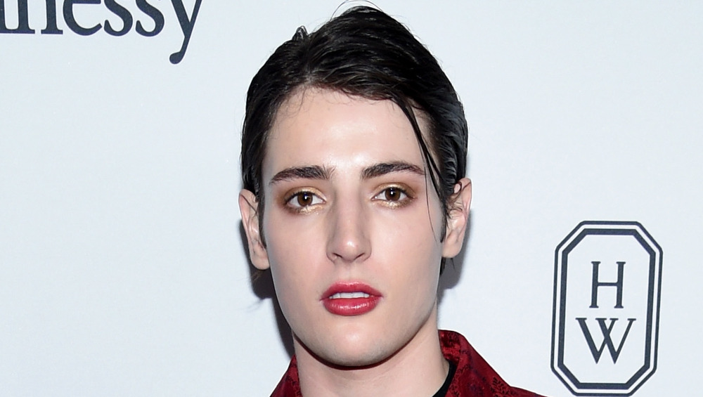 Harry Brant looking serious